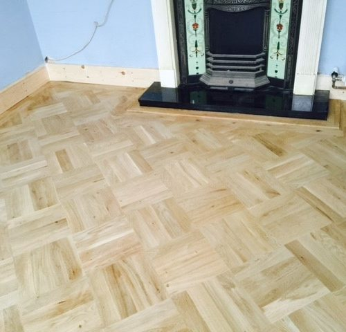 Prime oak laid on 45 degrees 4 blocks 280mm x280mm squares